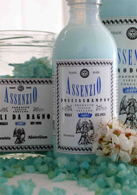 """Absinthe"" shower cream"