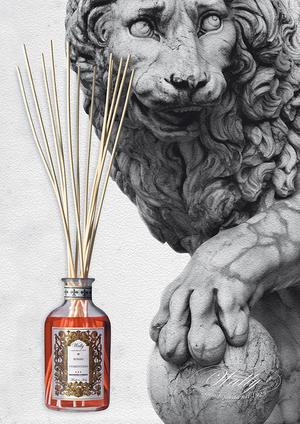 Rumsdoft med pinnar - Rosso Fiorentino